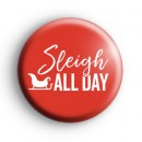 Red Sleigh All Day Christmas Badge