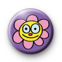Flower Smile Badges