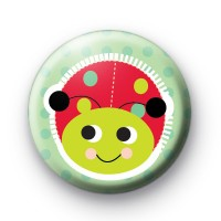 Happy Ladybird Button Badges