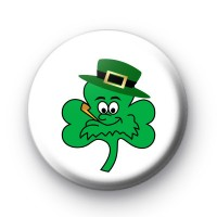 Smoking Irish Shamrock Badge