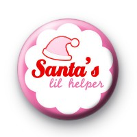 Christmas lil Helper Pink Badges