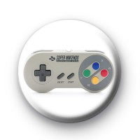 SNES controller Super Nintendo badge