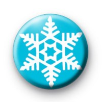Festive Blue Snowflake badge