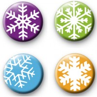 Set of 4 Snowflake Badges thumbnail