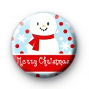 Snowman Merry Christmas Badges