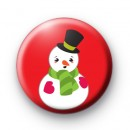 Snowman Top Hat Button Badge