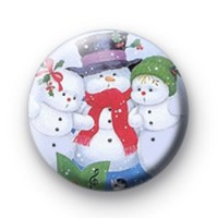 Christmas Snowmen badges