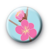 Soft Pink Floral Pin Badge