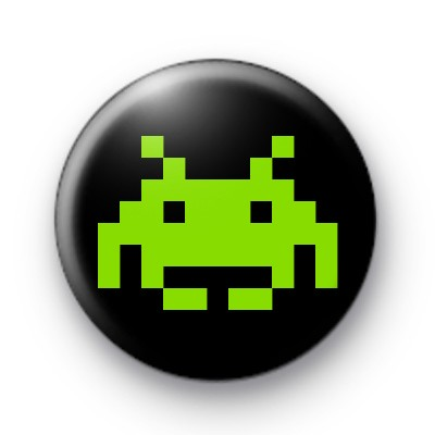 Space Invader (green) Badge