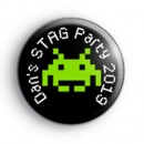 Space Invader Custom Stag Badges