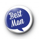 Speech Bubble Bestman Button Badge