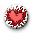 Splat Heart Badges