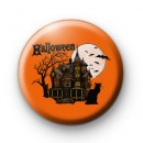 Creepy Haunted House Scene Badge