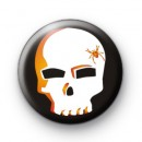 Spooky Spider Skull Halloween Badge