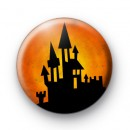Orange Spooky Haunted House Badge