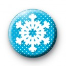 Blue Polka Dot Snowflake Badges