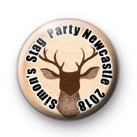 Stags Head Stag Party Badge