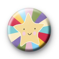 Cute Star Fish Happy Face Badges