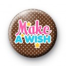 Make a Wish Stars Button Badge