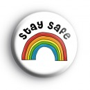 Stay Safe Rainbow Badge