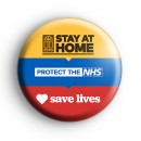 Stay at Home Protect The NHS and Save Lives Badge