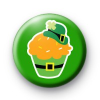 St Patrick's Day Cupcake Button Badges