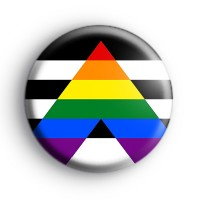 Straight Ally Pride Flag Badge Button Badges