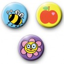 Set of 3 Summer Badges