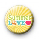 Yellow Summer Love Button Badges