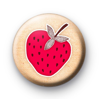 Strawberry Red Button Badges