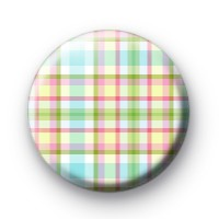 Bright Fresh Plaid Pattern badge