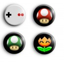 Set of 4 Retro Gamer Badges