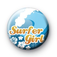 Surfer Girl Waves Button Badges