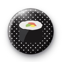Sushi Roll Button Badges