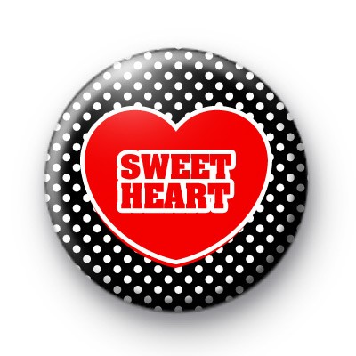 Sweet Heart Love Heart Badges