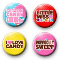 Set of 4 Sweet Shop Badges Set 2