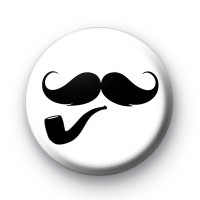 Pipe and Moustache Badge