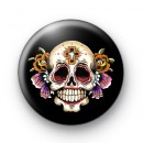 Rockabilly Tattoo Style Skull Badge
