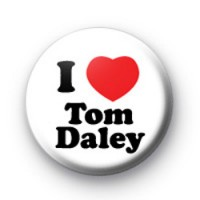 I Love Tom Daley Button Badges
