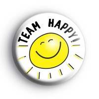 Team Happy Badge Button Badges