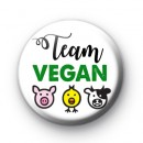 Team Vegan Button Badge