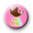 Tea Time Cuppa Button Badges