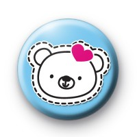 Cute Teddy Bear Button Badges