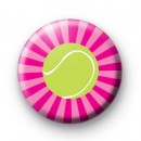 Tennis Ball Pink Badge
