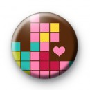 Cute Love Tetris Button Badges