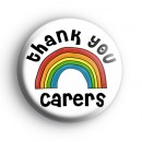 Thank You Carers Rainbow Badge