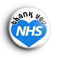 Thank You NHS Blue Heart Badge