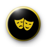 Theatre Happy and Sad Masks Badge