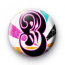 Number Three 3 badges