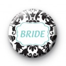 Custom Bride Badge Blue